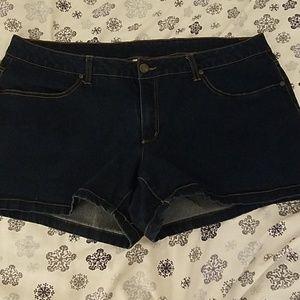 Plus size 18 dark denim shorts